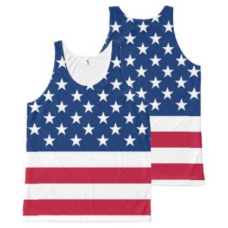 America flag American USA All-Over-Print Tank Top