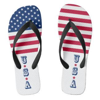 America flag American USA Flip Flops