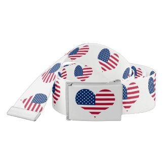 America flag American USA heart Belt