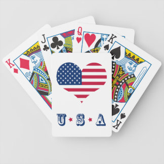 America flag American USA heart Bicycle Playing Cards