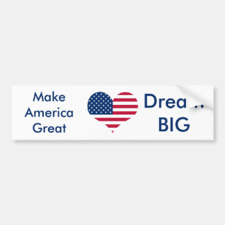 America flag American USA heart Bumper Sticker
