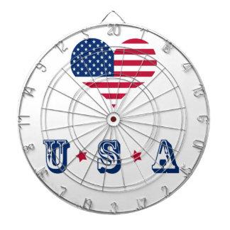 America flag American USA heart Dartboard