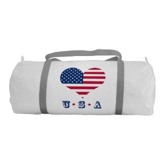 America flag American USA heart Gym Bag