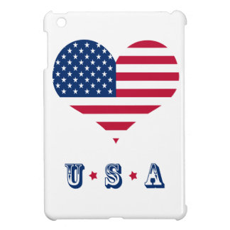 America flag American USA heart iPad Mini Cases