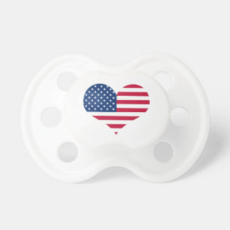 America flag American USA heart Pacifier