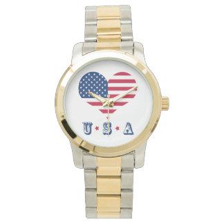 America flag American USA heart Watch