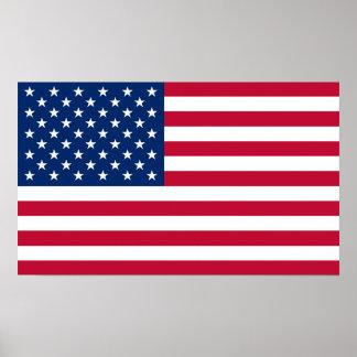 America flag American USA Poster