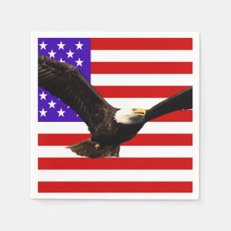America flag Bald Eagle USA Paper Napkin