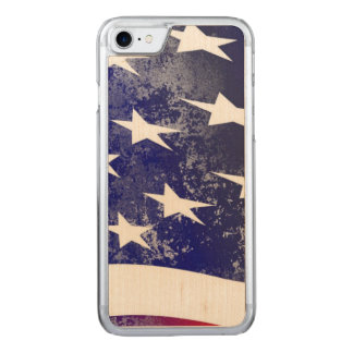 America Flag Carved iPhone 7 Case