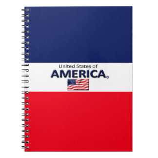 America Flag Colors Modern Notebook