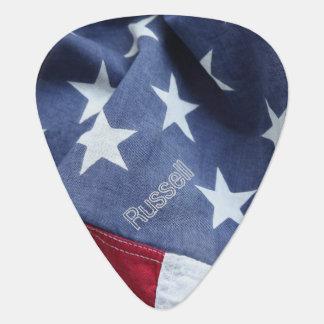 America flag guitar pick