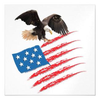 America Flag Magnetic Invitations