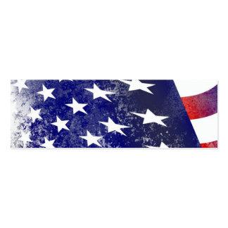 America Flag Mini Business Card