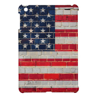 America flag on a brick wall iPad mini cases