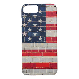 America flag on a brick wall iPhone 8/7 case