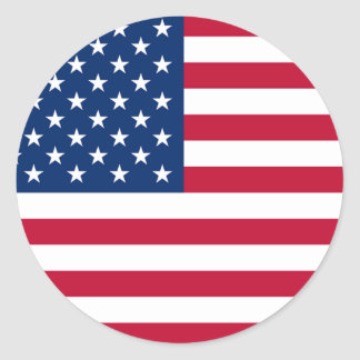 America Flag Round Stickers