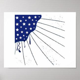 America Flag stylish Popart : Original art Poster