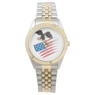 America Flag Wristwatch