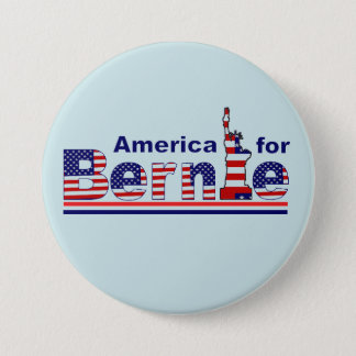 America for Bernie 3 Inch Round Button