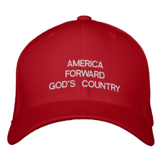 AMERICA FORWARDGOD'S COUNTRY EMBROIDERED HAT