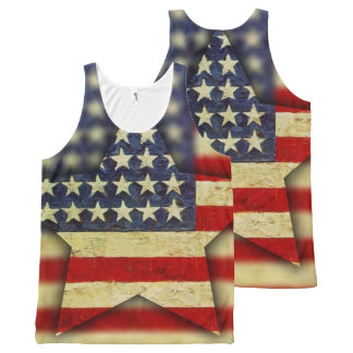 America F'yah All-Over-Print Tank Top