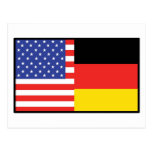 America Germany Postcard