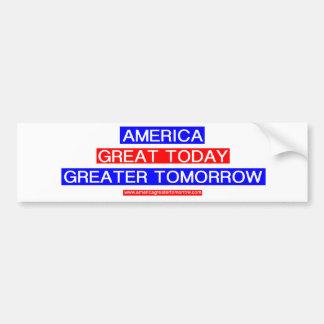 AMERICA GREATER TOMORROW Bumper Sticker