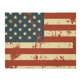 America Grunge Flag Canvas Print