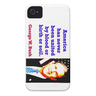 America Has Never - G W Bush Case-Mate iPhone 4 Case
