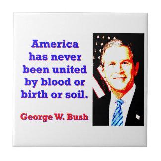 America Has Never - G W Bush Tile