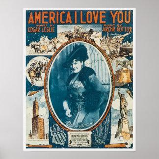 America I Love You Poster
