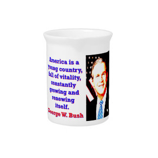 America Is A Young Country - G W Bush Pitcher