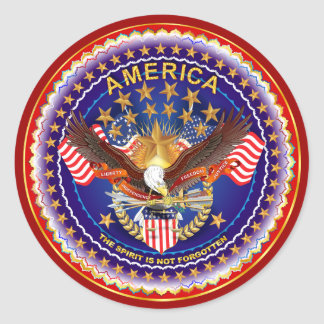 America Is Not Forgotten Rnd Only Please See Notes Classic Round Sticker