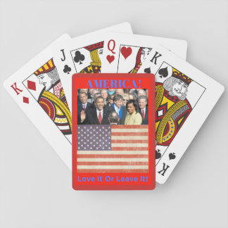 America, Love It or Leave It Playing Cards