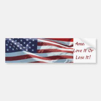 America, Love It Or Lose It Car Bumper Sticker
