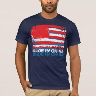 America Made in China - Layered - White T-Shirt