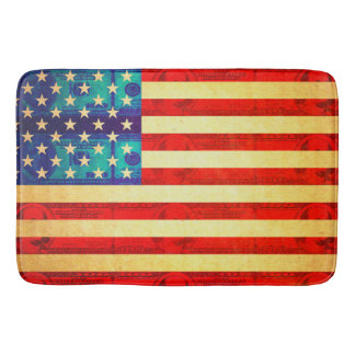 America money flag bath mat