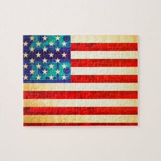 America money flag jigsaw puzzle