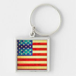 America money flag keychain