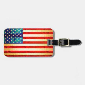 America money flag luggage tag