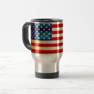 America money flag travel mug