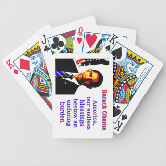 America Our Endless Blessings - Barack Obama Bicycle Playing Cards