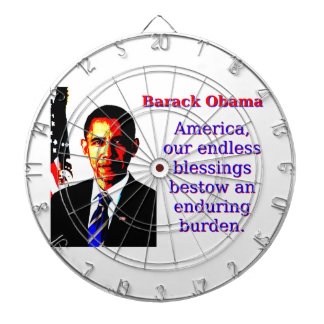 America Our Endless Blessings - Barack Obama Dartboard