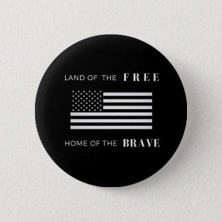 America Patriotic 2¼ Inch Round Button