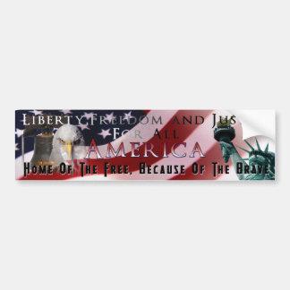 America Patriotic Bumper Sticker