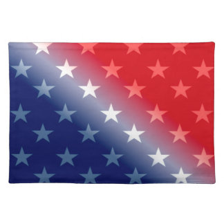 america patriotic red white blue placemat