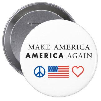 America patriotic round button