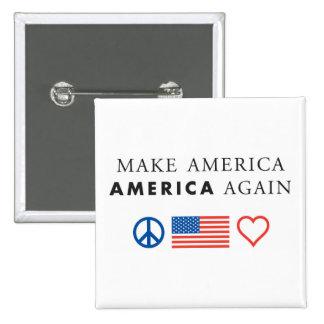 America patriotic small square button