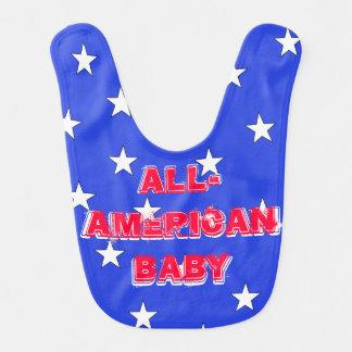 America Patriotic USA All American Baby Bib