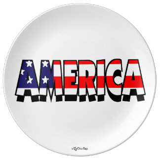 America! PLATE Porcelain Plate